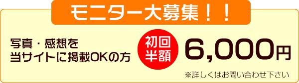 モニター募集初回半額6000円